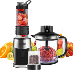 best food processor under $100 2021 Roll over image to zoom in VIDEO Smoothie Shake Blender, Fochea 3 In 1 Food Processor Multi-Function Kitchen Mixer System