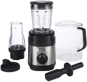 Weston Sound Shield Pro Series 1.6hp Blender with 32oz + 20oz Blend-in Personal Jar